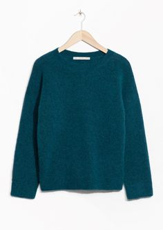 & Other Stories image 1 of Mohair Blend Sweater in Turquoise