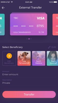 Banking App by Giga Tamarashvili - Dribbble