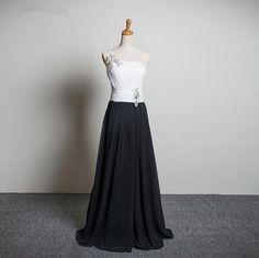 Women Prom Dresses 2016 Long White Black Elegant