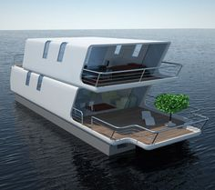 tubiQ is A Modular Concept That Combines A Boat and A Living Area | Tuvie