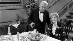 """German traditions on New Year's Eve Laugh with the cult classic 'Dinner for One'  In 1963, a British sketch, """"Dinner for One,"""" was broadcast for the first time on German TV - and has been aired on December 31 for many years, becoming the most frequently repeated TV program ever. It's in English, but the humor is easy to get. An aristocrat woman celebrates her 90th birthday; her butler, covering for her absent guests, gets drunk, repeating """"the same procedure as every year."""""""