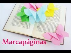 Manualidades: MARCAPÁGINAS de papel (MARIPOSA Origami) - Innova Manualidades - YouTube