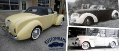 Back in the early 1950s Nick Dunkavich of Meriden, Connecticut turned his 1940 Hupmobile Skylark sedan into a roadster through hand-formed side panels and a 1949 Dodge roadster trunk lid.