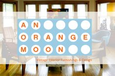 "Modernists, Artist, Collectors, Designers & Lovers of all things beautiful! Check out An Orange Moon! Chicago's own Uber Hip Vintage furniture & Design showroom. We vibe MID CENTURY MODERN, Industrial, French, Victorian, Vintage Lighting, Art & Accessories. Come see why we were voted ""THE BEST"" by the Chicago Reader & The University of Chicago Weekly. All major cards accepted! We conduct ESTATE SALES with NO UPFRONT FEES! We also BUY ENTIRE ESTATES! SKOAL! 312.450.9821 or 773.276.ORANGE"
