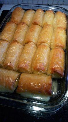 Greek Sweets, Greek Desserts, Gourmet Recipes, Baking Recipes, Dessert Recipes, Cream Pie Recipes, Greek Recipes, Galaktoboureko Recipe, Snap Food