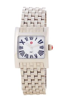 Really really want a Michelle watch Women's MW2 Mini Stainless Steel Watch by Michele on @HauteLook