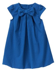 Jacquard Dot Dress at Gymboree - Kind of plain, but her features would really stand out. Little Dresses, Little Girl Dresses, Cute Dresses, Baby Girl Fashion, Kids Fashion, Dress Anak, Baby Dress, Dot Dress, Kids Frocks