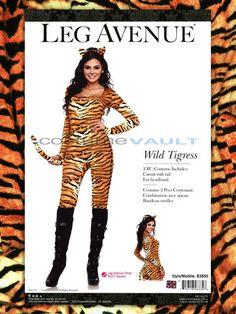 sexy wild tigress tiger catsuit womens adult halloween costume leg avenue - Tigress Halloween Costume