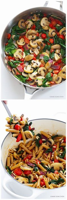 PASTA WITH MUSHROOMS, TOMATOES.... Yummy got to try this :)
