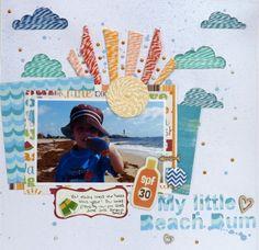 My Littel Beach Bum **IMAGINISCE** - Scrapbook.com
