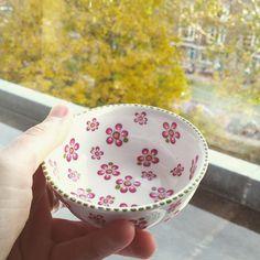 ceramic painting that's all right fall, I've got a bowl of spring right here Mandala Painting, Dot Painting, Ceramic Painting, Ceramic Cafe, Ceramic Pottery, Crackpot Café, Comics Und Cartoons, Cute Tea Cups, Keramik Design