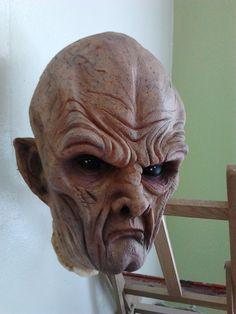 Halloween Masks Alien/swamp creature/scary. $55.00, via Etsy.