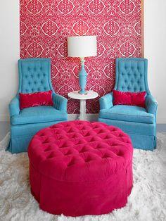 Polished Salon and Nail bar, Atlanta  Designed by Michael Habachy - love the colours.