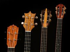 Lichty Handcrafted Ukulele headstocks