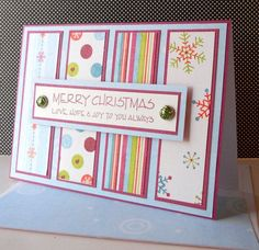Handmade Christmas Card by SewColorfulDesigns