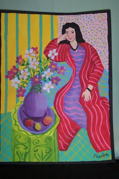 MY MATISSE PAINTED WITH DECOART ACRYLICS