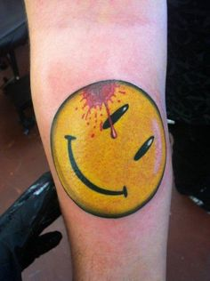 Arm Smile Blood Tattoo by Bearcat Tattoo