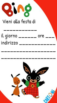 Bing inviti feste di compleanno - inviti bambini online - Bing rabbit party  -bing coniglietto - cartone animato Bing Cake, Birthday Party Themes, Birthday Cards, Bing Bunny, Bunny Party, Diy Playground, Best Birthday Wishes, Balloon Decorations, Party Planning
