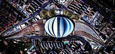"""As imagens de satélite do nosso mundo são incríveis por conta própria, mas o artista argentino Federico Winer se dedica a dar um toque especial a elas. Ele usa fotografias aéreas para criar caleidoscópios fascinantes de padrões e cores geométricas. Sua série de imagens, """"Ultradistancia"""", é um conjunto de paisagens naturais ou feitas pelo homem descobertas no meio do banco de dados do Google Earth."""