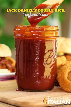 Jack Daniels Double Kick Barbecue Sauce Recipe ~ fabulously scrumptious barbecue sauce... on pulled pork, burgers, chicken, onion rings and fries...