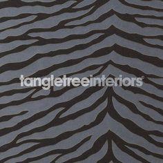 Quagga wallpaper from Osborne and Little - W6304-01 - Black/Silver