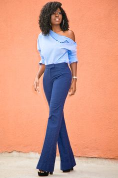 Style Pantry | Deconstructed Shirt + Flared Trousers