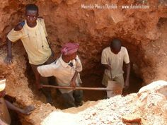 This picture shows some people in Africa Coltan mining, which makes our phones work