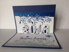 kirigami Bonne Annee 2016 carte de voeux