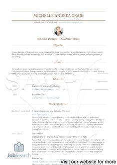 Student Resume Template, Resume Design Template, Resume Templates, Resume Tips, Resume Examples, Free Resume, Resume Objective Sample, Resume Template Australia, Psychology