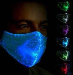 Safebao LED Dust Mask 7 Colors Luminous Light for Men Women Rave Mask Music for sale online Mode Monochrome, Led Light Mask, Halloween Music, Halloween Costumes, Rave Mask, Glow Mask, Music Party, Mouth Mask, Mask Design