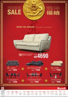 furniture sale advertisement. print ad a seasonal chinese new year promotion advertisement for furniture brand sale