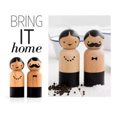 """""""Bring It Home: Mr & Mrs Salt And Pepper Grinder"""" by polyvore-editorial ❤ liked on Polyvore featuring interior, interiors, interior design, home, home decor, interior decorating and bringithome"""