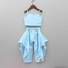 Beautiful pastel 2 piece dress , perfect for festive occassions Baby Girl Party Dresses, Dresses Kids Girl, Kids Outfits, Baby Frocks Designs, Kids Frocks Design, Kids Fashion Wear, Baby Girl Fashion, Backless Homecoming Dresses, Kids Dress Wear