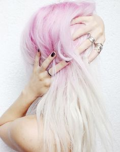 pink & platinum hair
