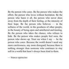 "1,253 Likes, 67 Comments - Bianca Sparacino (@rainbowsalt) on Instagram: ""Be the person who cares ✨"""