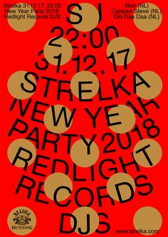 New Year Party Poster Design 2018 Flyer Poster, Dm Poster, Typography Poster, Party Poster, Web Design, Layout Design, Print Design, Design Graphique, Art Graphique