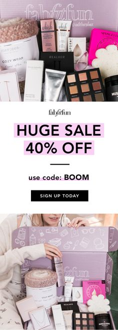 It's our biggest SALE of the season! 40% off your 1st box w/code BOOM