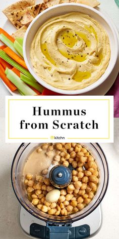 This homemade hummus recipe shows that you can make hummus from scratch without much effort. Simply combine chickpeas, olive oil, tahini, lemon juice, and garlic in a food processor until the mixture is smooth enough for dipping. So easy! Vegetarian Recipes, Cooking Recipes, Healthy Recipes, Garbanzo Bean Recipes, Cooking Rice, Vegetable Recipes, Easy Recipes, Dinner Recipes, Comida Israeli