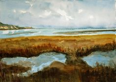 View towards Ramsgate, Kent An original Watercolour Painting!        Lovely Gift! by JulianLovegroveArt on Etsy
