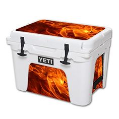 MightySkins Protective Vinyl Skin Decal for YETI Tundra 35 qt Cooler wrap cover sticker skins Backdraft -- For more information, visit image link.(This is an Amazon affiliate link and I receive a commission for the sales)