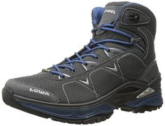 Lowa Men's Ferrox GTX Mid Trail Boot, Graphite/Blue, 9 M US ** Want to know more, click on the image.
