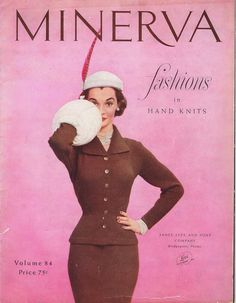 EBook 1950s Vintage Fashion Knitting by Columbia Minerva. $15.00, via Etsy.