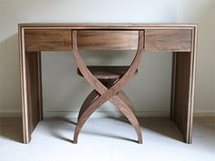 Dressing table by SixNineThree in walnut #design #modenus #london