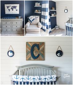 Nautical Nursery Baby Ocean Decor Boy Anchor