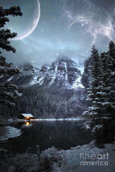 Winter in Cabin, Banff National Park, Alberta, Canada
