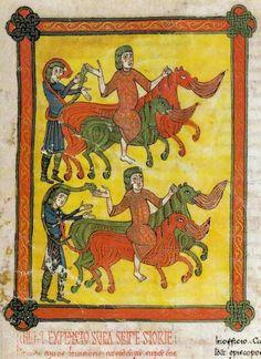 Deaths of the Patriarchs Enoch and Elias, El Burgo de Osma Beatus, 1086AD