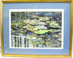 $79 Framed & Matted Print by Robyn Hill  POND COLORS 31 x 25