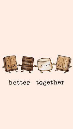 Better with u💓 Cute Food Wallpaper, Kawaii Wallpaper, Cute Wallpaper Backgrounds, Wallpaper Iphone Cute, Cute Cartoon Wallpapers, Phone Backgrounds, Wallpaper Wallpapers, Cellphone Wallpaper, Animal Wallpaper