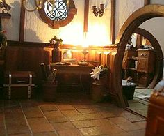 most tend to think of the Hufflepuff common room and dorms being similar to a hobbit home.