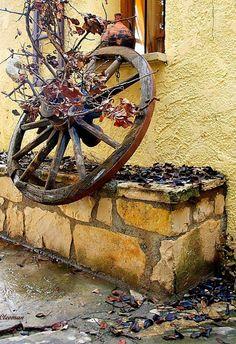wheel in Autumn - Crete island, Greece
